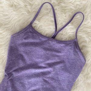 Lavender Lululemon Power Y tank